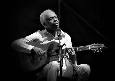 Gilberto Gil   Black And White Poster by Jean Francois Gil