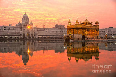 Poster featuring the photograph  Golden Temple by Luciano Mortula