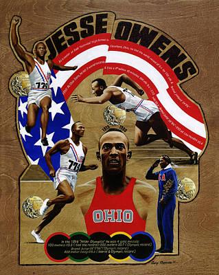 Jesse Owens Poster by Gary Thomas