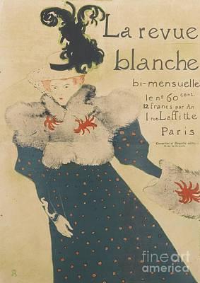 La Revue Blanche Poster by MotionAge Designs