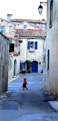 Languedoc Village Scene Poster by Contemporary Art By PEARSE