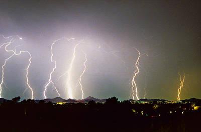 Lightning Thunderstorm View From Oaxaca Restaurant   Poster