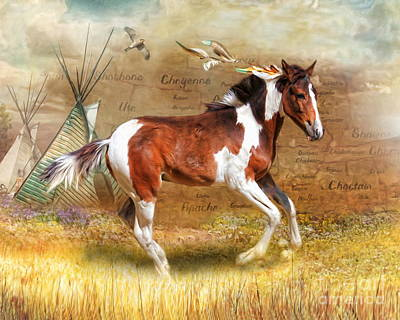 Poster featuring the digital art  Little Apache by Trudi Simmonds