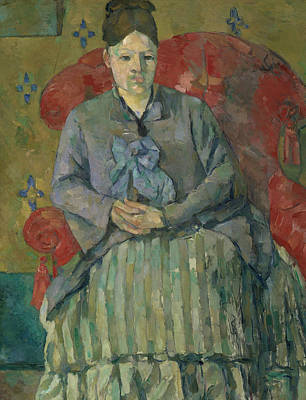Madame Cezanne In A Red Armchair  Poster