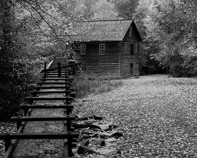 Mingus Mill - Black And White Poster by Fred Baird