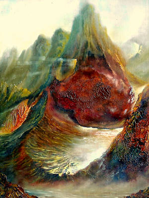Poster featuring the painting  Mountains Fire by Henryk Gorecki