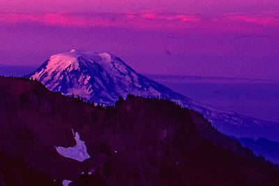 Mt. Rainier Sunrise Poster by Ansel Price