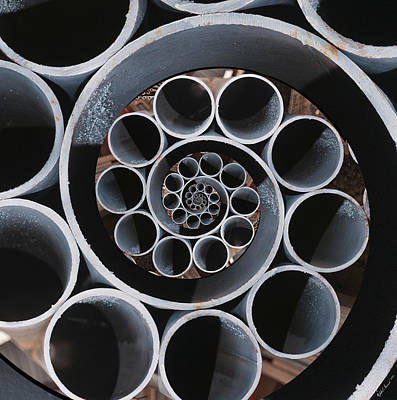 Nested Metal Pipes Droste 1 Poster by Nicholas Romano