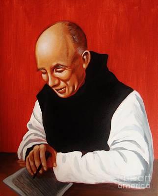 Portrait Of Thomas Merton Poster by Joseph Malham