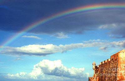 Rainbow Over El Morro Fortress Poster