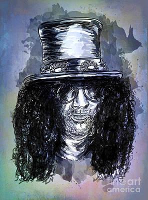 Slash Guitarist Poster by Andrzej Szczerski