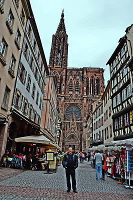 Strasbourg Cathedral. Selfie. Poster by Andy Za