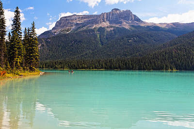 Summer Day At Emerald Lake Poster by George Oze