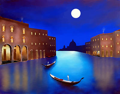 Venice Nights Poster by Larry Cirigliano