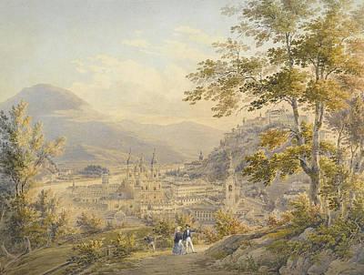 View Of Salzburg Around  Poster by MotionAge Designs