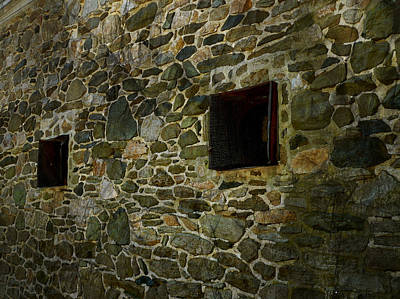 Vintage Stone Wall In Radnor  Pa Poster