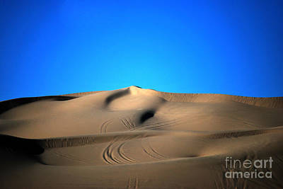 Yuma Dunes Number One Bright Blue And Tan Poster