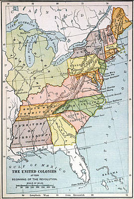 United States Map, C1791 Poster