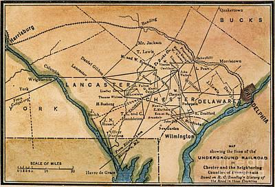 Underground Railroad Map Poster