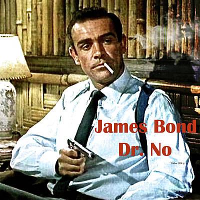 007, James Bond, Sean Connery, Dr No Poster by Thomas Pollart