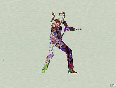 007 Watercolor Poster by Naxart Studio