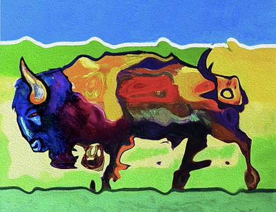 0118 Buffalo By Nixo Poster