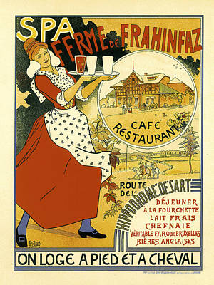 Spa Ferme De Franhinfaz Poster by Edouard Duyck