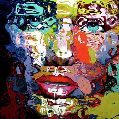 0191 Abstract Face By Nixo Poster