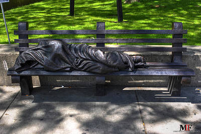 02 Homeless Jesus By Timothy P Schmalz Poster by Michael Frank Jr