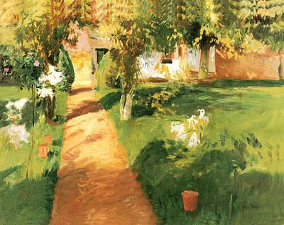 Millets Garden Poster by John Singer Sargent