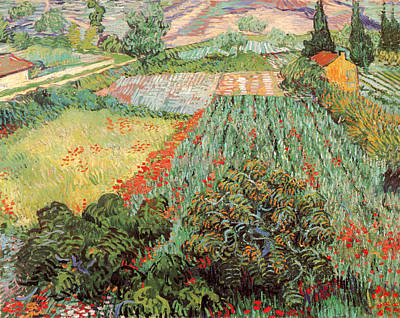 Field With Poppies Poster by Vincent Van Gogh