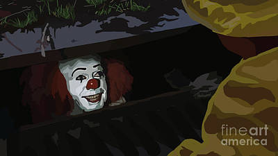 036. They All Float Down Here Poster by Tam Hazlewood