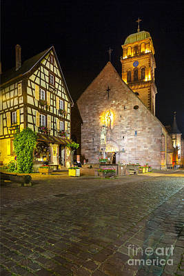 Half-timbered Houses, Kaysersberg Alsace France  Poster
