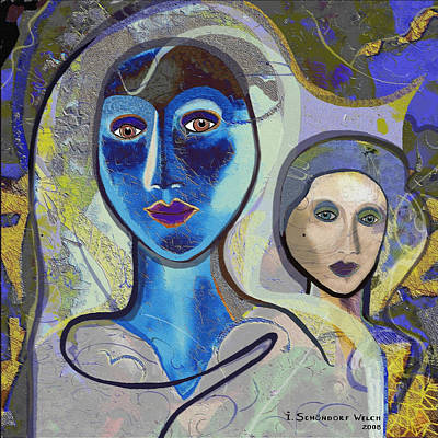 092 - Blue Lady  Poster by Irmgard Schoendorf Welch