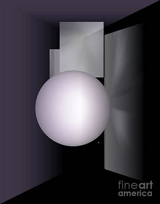 Poster featuring the digital art 1-2017 by John Krakora