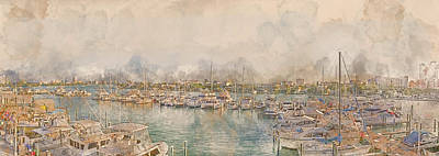 10879 Clearwater Marina Poster