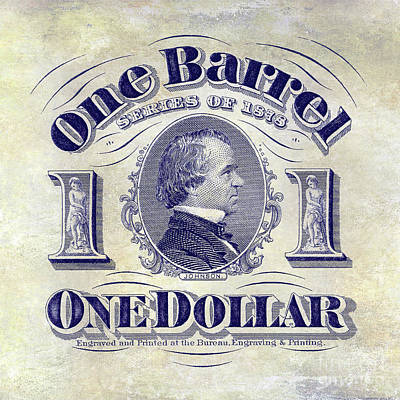 1878 Beer Barrel Tax Stamp Poster by Jon Neidert
