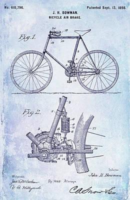 1893 Bicycle Patent Blueprint Poster by Jon Neidert