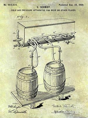 1900 Draft Beer Patent  Poster by Jon Neidert