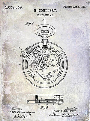 1913 Pocket Watch Patent Poster by Jon Neidert