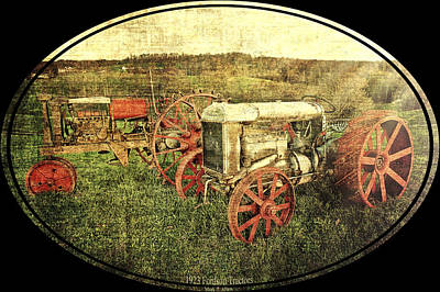 Vintage 1923 Fordson Tractors Poster by Mark Allen