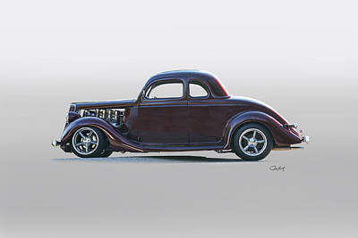 1935 Ford 'five-window' Coupe Poster by Dave Koontz