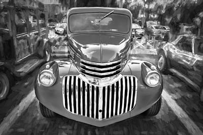 1938 Chevrolet Pick Up Truck Painted Bw Poster