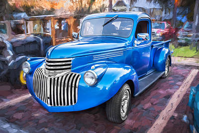 1938 Chevrolet Pick Up Truck Painted  Poster