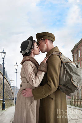 Poster featuring the photograph 1940s Lovers by Lee Avison