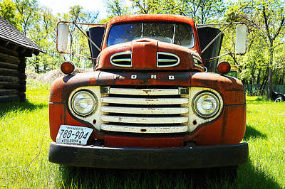 1949 Ford Truck Poster by Donald  Erickson
