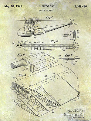 1949 Helicopter Patent Poster by Jon Neidert