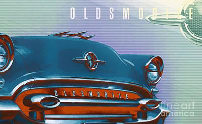 1955 Oldsmobile Ninety Eight Poster