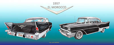 1957 Chevrolet El Morocco Hard Top Poster by Jack Pumphrey