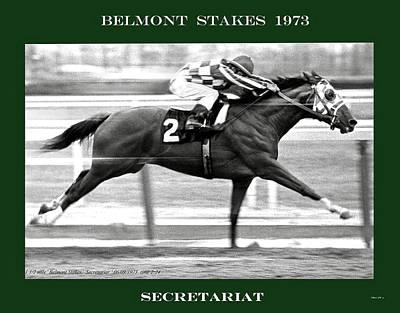 1973 Belmont Stakes, Secretariat, Back Stretch, 1 12 Miles, 2 Min 24 Sec Poster